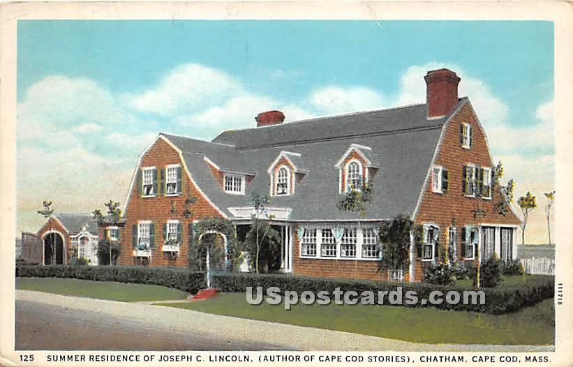 Summer Residence of Joseph C Lincoln Author of Cape Cod Stories - Chatham, Massachusetts MA Postcard