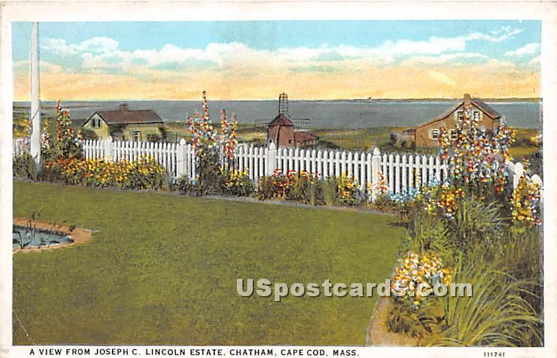 A View from Joseph C Lincoln Estate - Chatham, Massachusetts MA Postcard