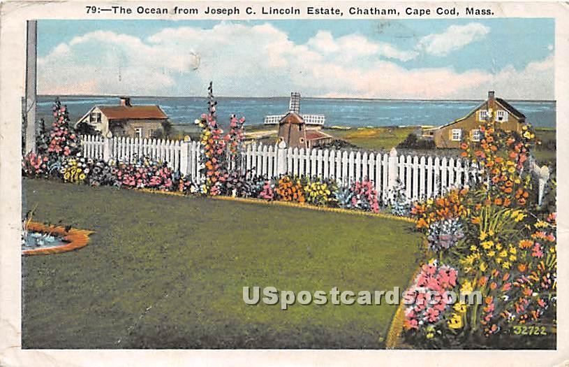 The Ocean from Joseph C Lincoln Estate - Chatham, Massachusetts MA Postcard
