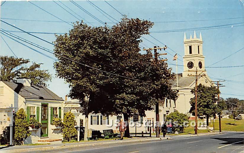 Main Street showing Information Booth - Chatham, Massachusetts MA Postcard