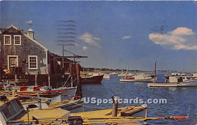Chatham Fish Pier - Massachusetts MA Postcard