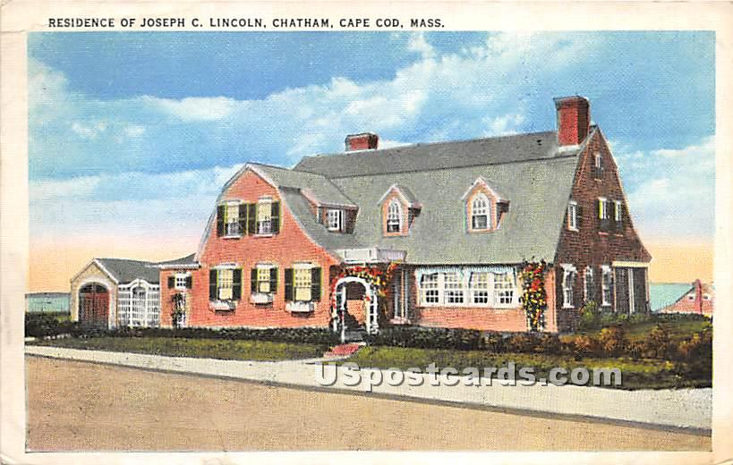 Residence of Joseph C Lincoln - Chatham, Massachusetts MA Postcard