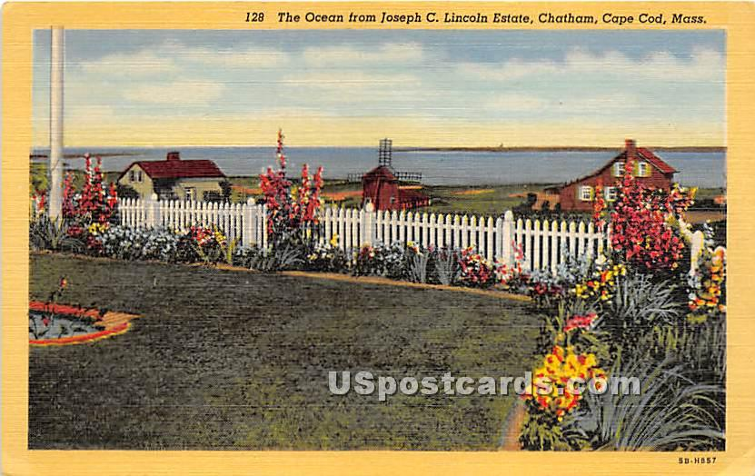 The Ocean from Joseph C Lincoln Estate - Chatham, Massachusetts MA Postcard