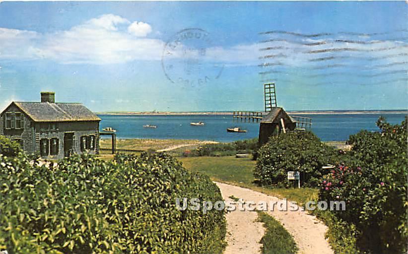 Old Home & Hill - Chatham, Massachusetts MA Postcard