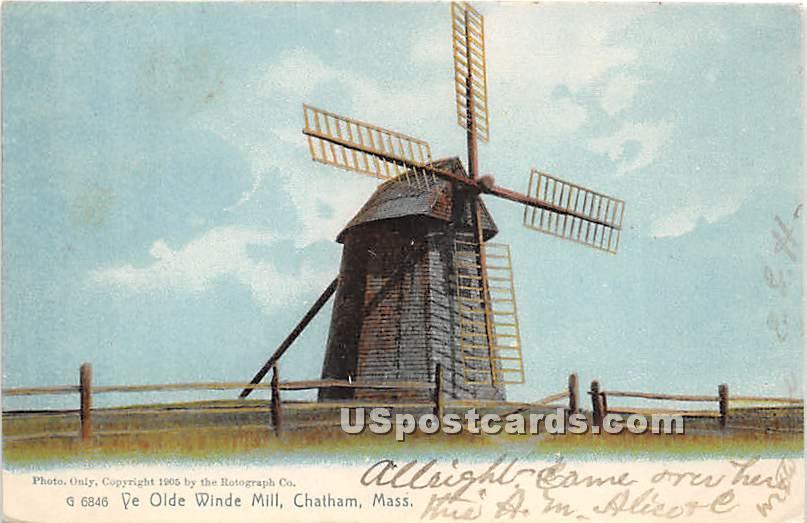 Ye Olde Winde Mill - Chatham, Massachusetts MA Postcard