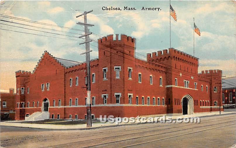 Armory - Chelsea, Massachusetts MA Postcard