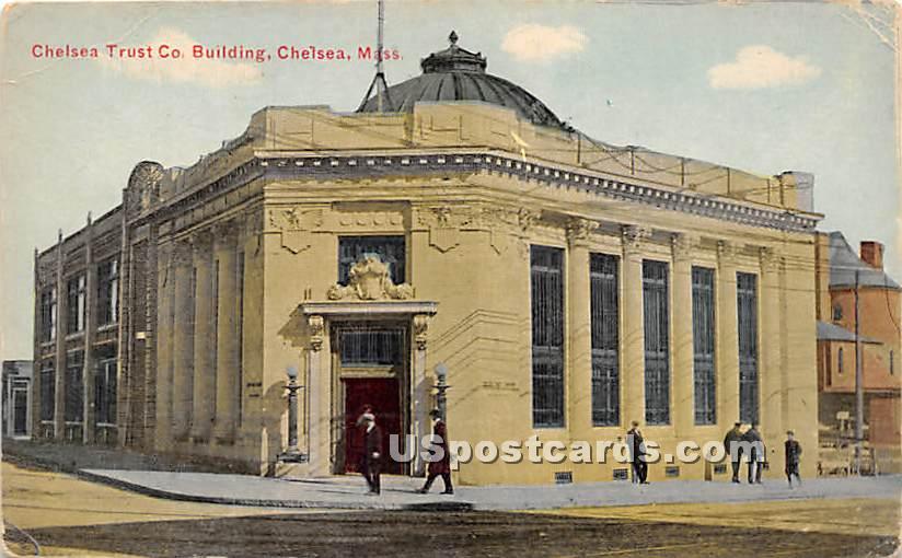 Chelsea Trust Co Building - Massachusetts MA Postcard