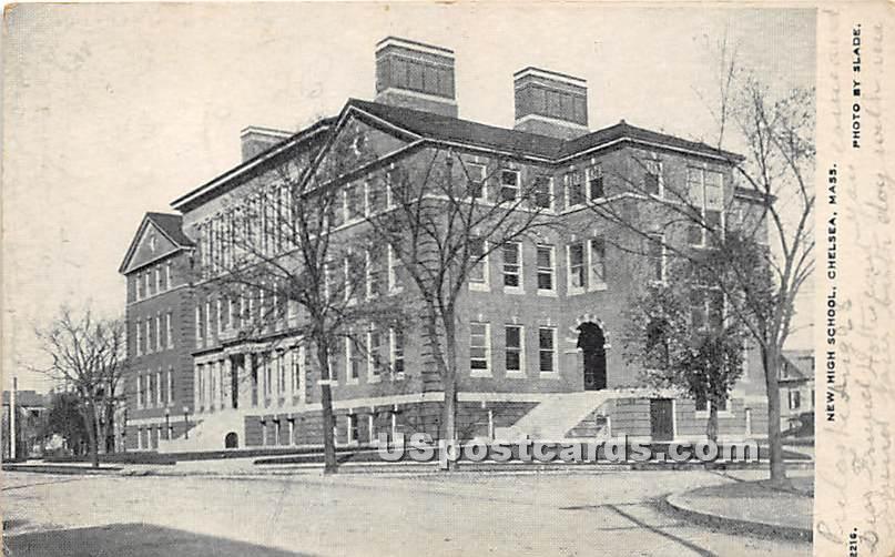 New High School - Chelsea, Massachusetts MA Postcard