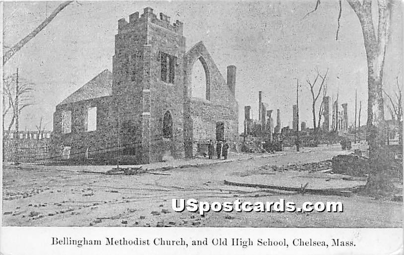 Bellingham Methodist Church - Chelsea, Massachusetts MA Postcard