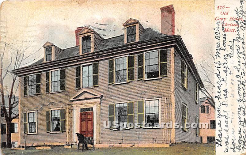Old Cary House - Chelsea, Massachusetts MA Postcard