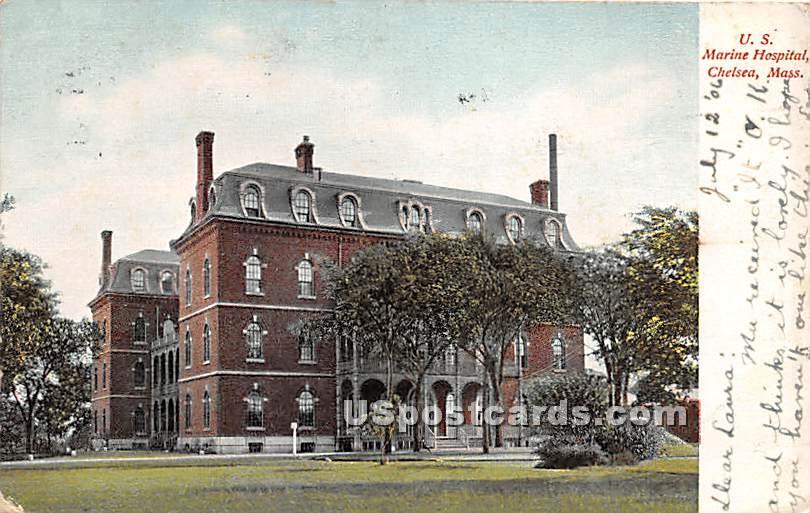 US Marine Hospital - Chelsea, Massachusetts MA Postcard