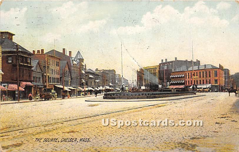 The Square - Chelsea, Massachusetts MA Postcard