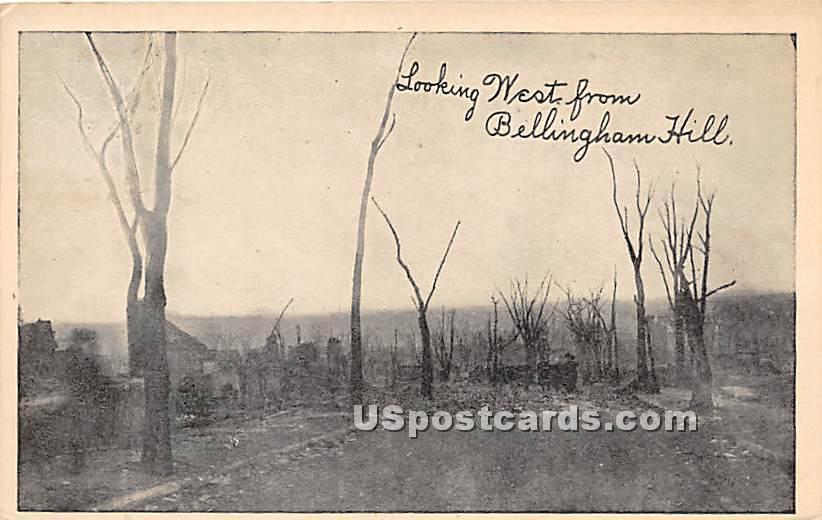 Looking West from Bellingham Hill - Chelsea, Massachusetts MA Postcard