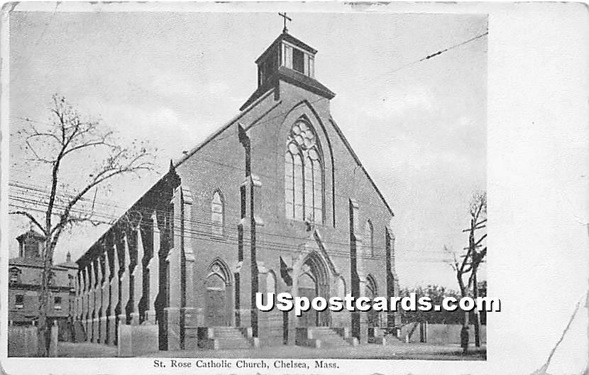 St Rose Catholic Church - Chelsea, Massachusetts MA Postcard