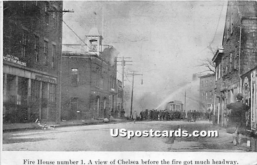 Fire House Number 1 - Chelsea, Massachusetts MA Postcard