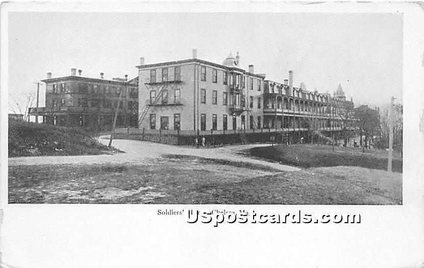 Soldiers' Home - Chelsea, Massachusetts MA Postcard