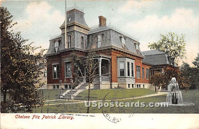 Chelsea Fitz Patrick Library - Massachusetts MA Postcard