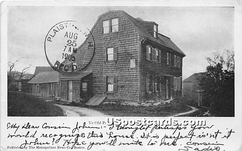 Ye Olde Pratt House - Chelsea, Massachusetts MA Postcard
