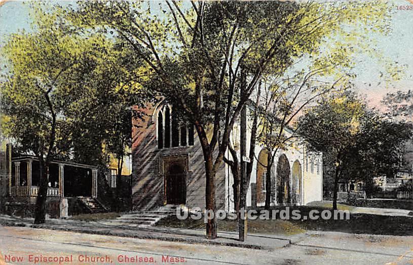 New Episcopal Church - Chelsea, Massachusetts MA Postcard