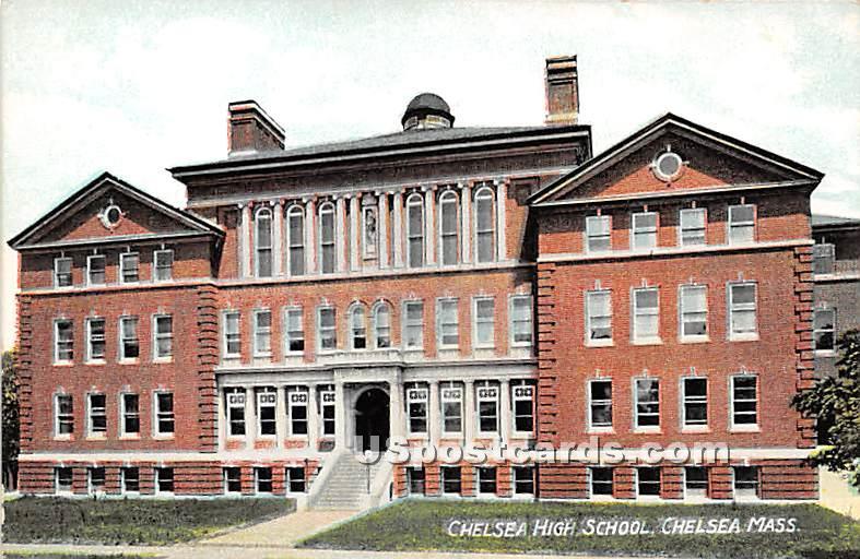 Chelsea High School - Massachusetts MA Postcard
