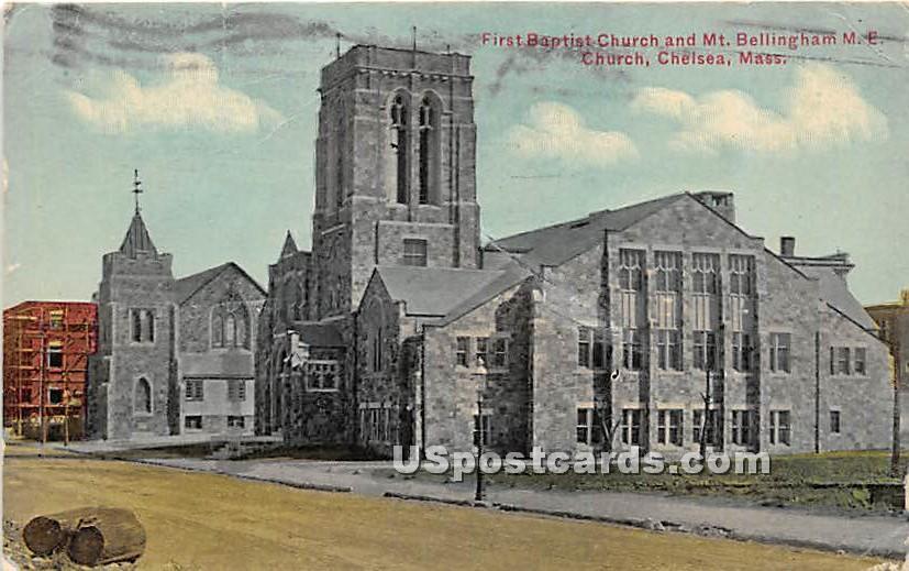 First Baptist Church - Chelsea, Massachusetts MA Postcard