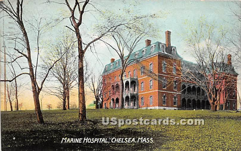 Marine Hospital - Chelsea, Massachusetts MA Postcard