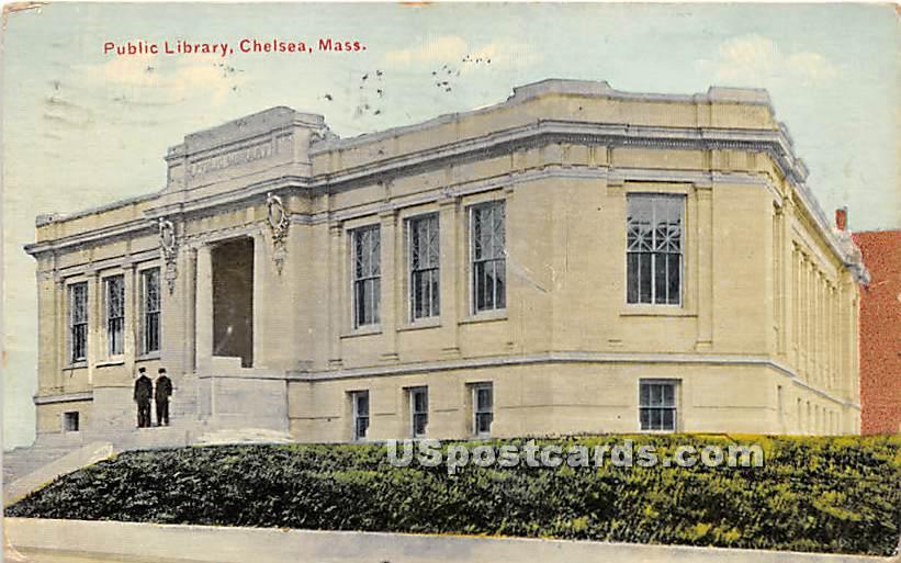 Public Library - Chelsea, Massachusetts MA Postcard