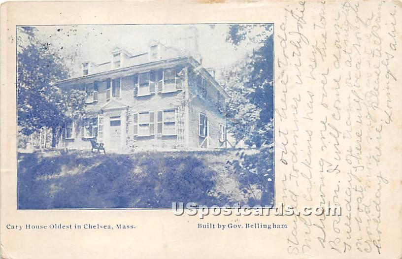 Cary House Oldest in Chelsea - Massachusetts MA Postcard