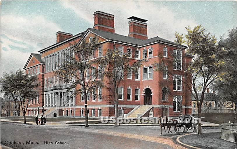 High School - Chelsea, Massachusetts MA Postcard