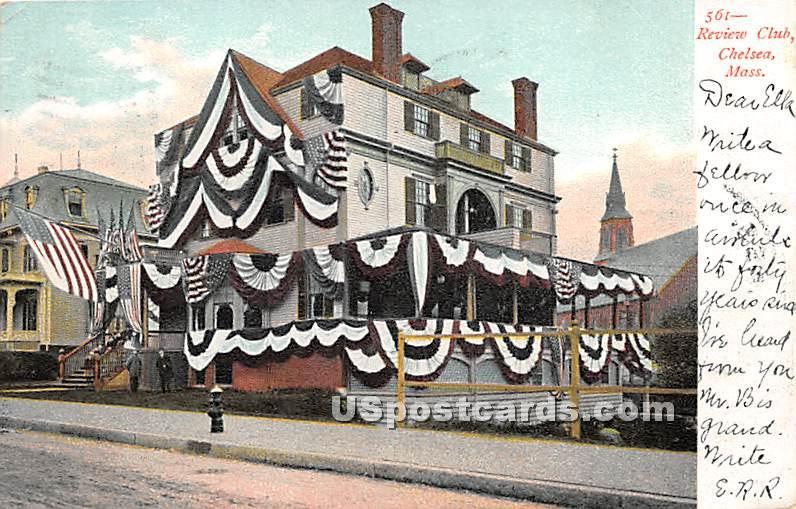 Review Club - Chelsea, Massachusetts MA Postcard