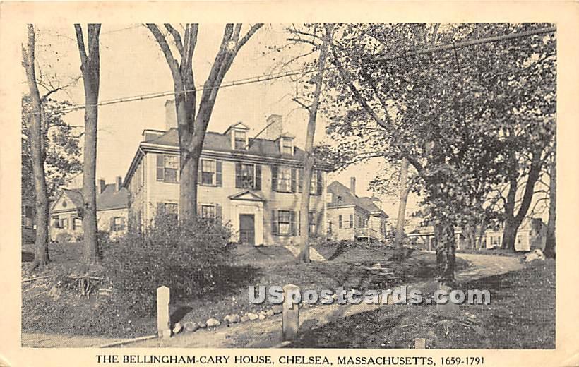 The Bellingham Cary House - Chelsea, Massachusetts MA Postcard