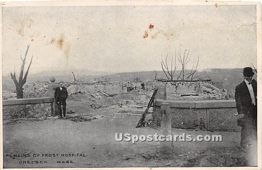 Remains of Frost Hospital - Chelsea, Massachusetts MA Postcard