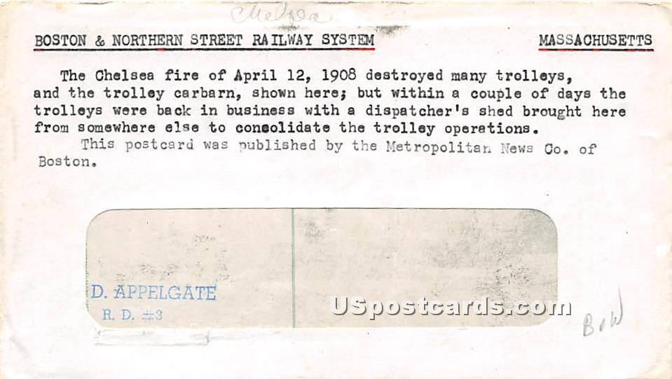 Boston & Northern Street Railway System - Chelsea, Massachusetts MA Postcard