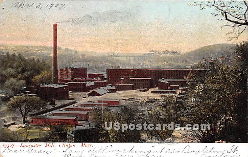 Lancaster Mills - Clinton, Massachusetts MA Postcard