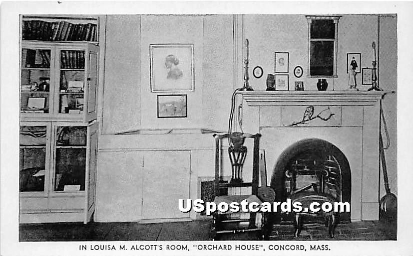 In Louisa M Alcott's Room at the Orchard House - Concord, Massachusetts MA Postcard