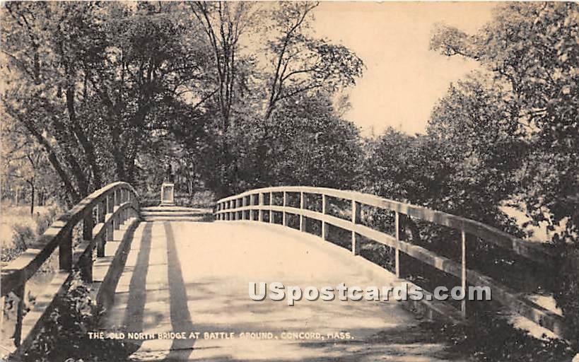The Old North Bridge at Battle Ground - Concord, Massachusetts MA Postcard