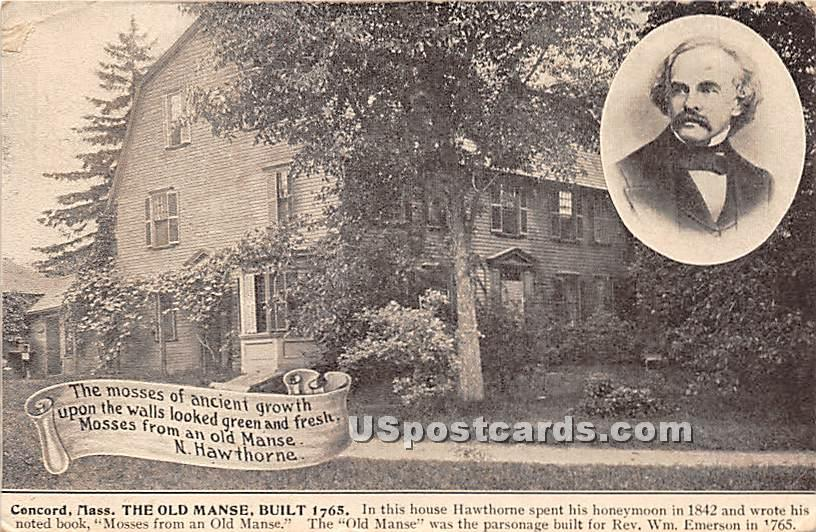 The Old Manse Built 1765 - Concord, Massachusetts MA Postcard