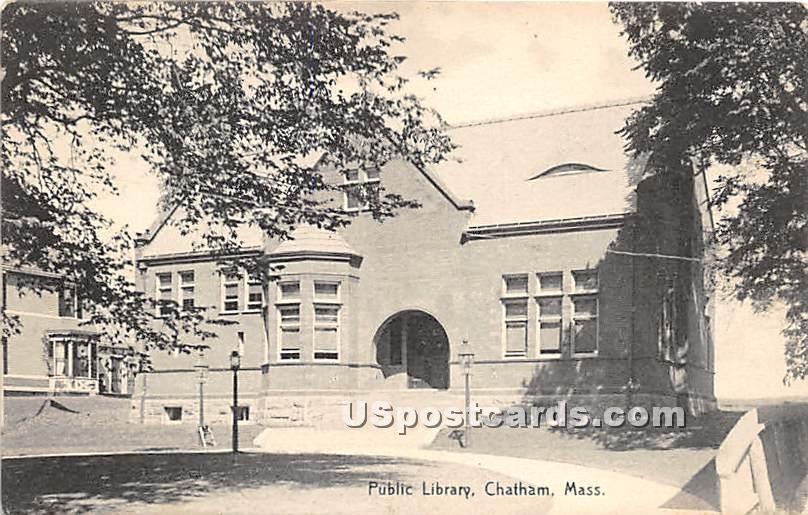 Public Library - Chatham, Massachusetts MA Postcard
