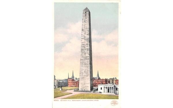 Bunker Hill Monument Charlestown, Massachusetts Postcard