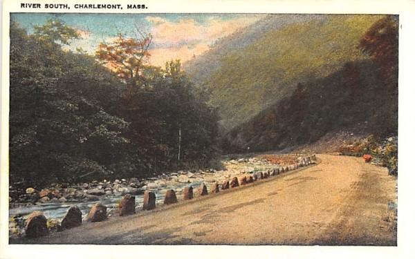 River South Charlemont, Massachusetts Postcard