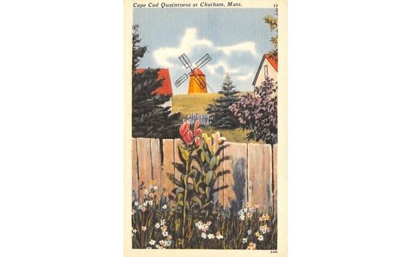 Cape Cod Quaintness Chatham, Massachusetts Postcard