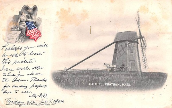 Old Mill Chatham, Massachusetts Postcard