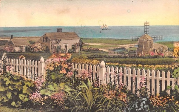 View from the Garden Chatham, Massachusetts Postcard