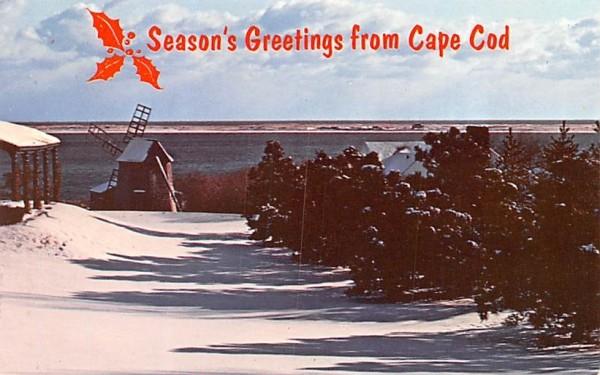 Season's Greeting from Cape Cod Chatham, Massachusetts Postcard
