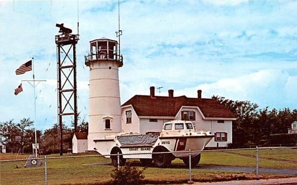 Chatham Light & Coast Guard Station Massachusetts Postcard