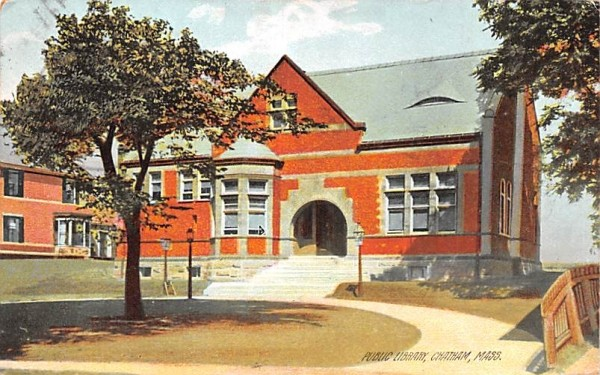 Public Library Chatham, Massachusetts Postcard