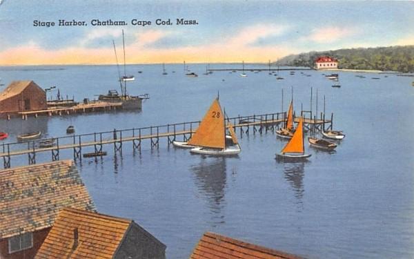 Stage Harbor Chatham, Massachusetts Postcard