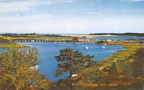 Bridge Street & Mitchell's River Chatham, Massachusetts Postcard
