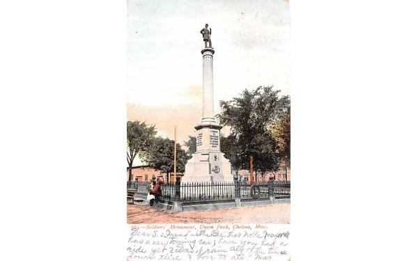 Soldiers' Monument Chelsea, Massachusetts Postcard