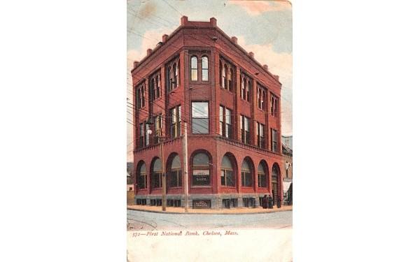 First National Bank Chelsea, Massachusetts Postcard